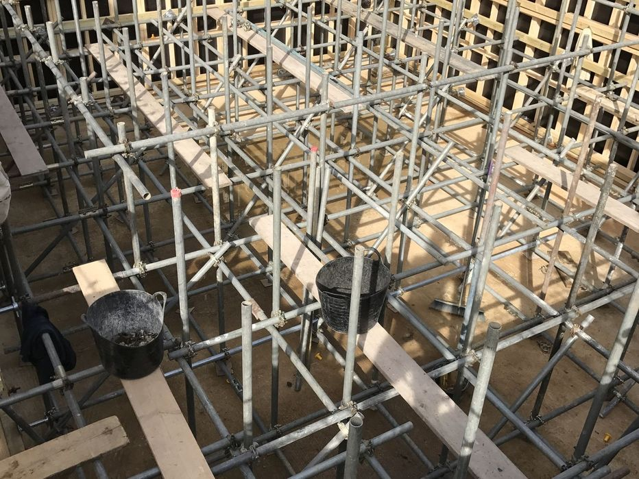 Some of our domestic scaffolding